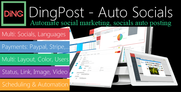 DingPost v1.3.4 – Social Auto Poster, Auto Scheduler & Marketing Solutions