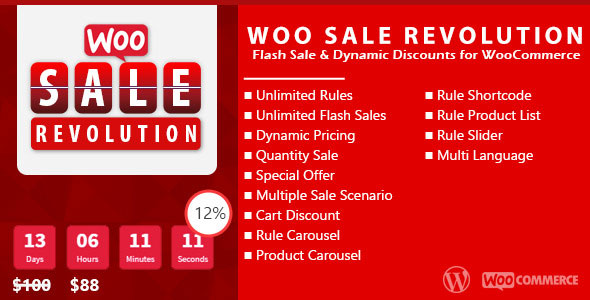 Woo Sale Revolution v3.0.1 – Flash Sale+Dynamic Discounts
