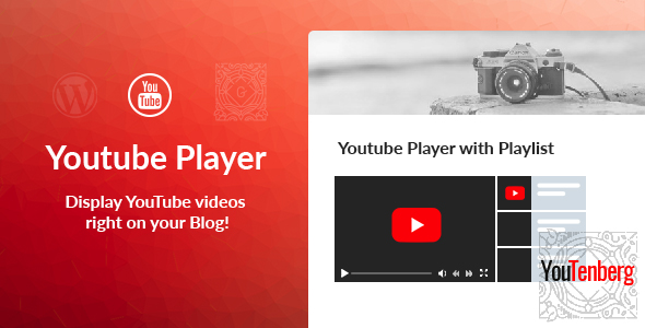 Youtenberg v1.0 - Gutenberg YouTube Player with Playlist