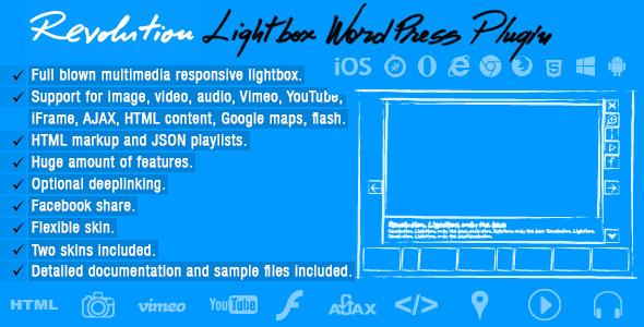 Revolution Lightbox WordPress Plugin v1.2