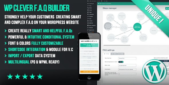 WP Clever FAQ Builder v1.36 – Smart support tool