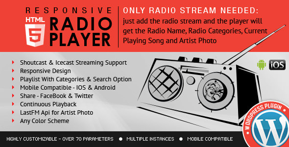 Radio Player Shoutcast & Icecast v3.3.4