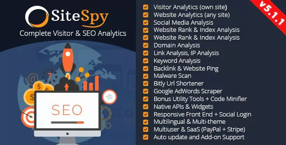 SiteSpy v5.1.1 - The Most Complete Visitor Analytics & SEO Tools - nulled