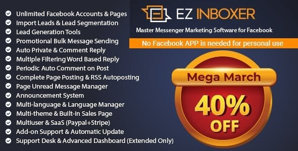 EZ Inboxer v7.0.2 - Master Messenger Marketing Software For Facebook - nulled