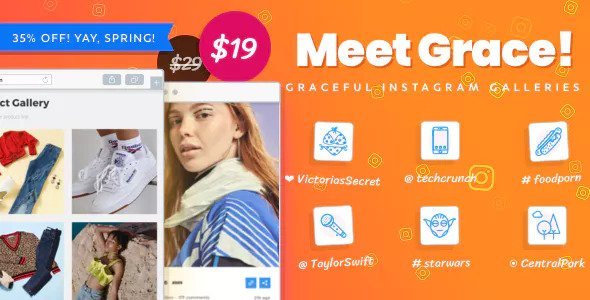 Instagram Feed Gallery – Grace for WordPress v1.1.9