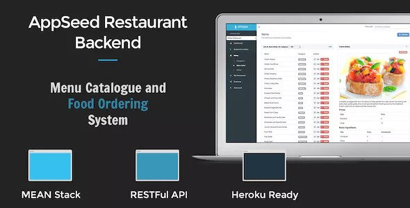 AppSeed Restaurant Backend Lite – Full MEAN Stack Application