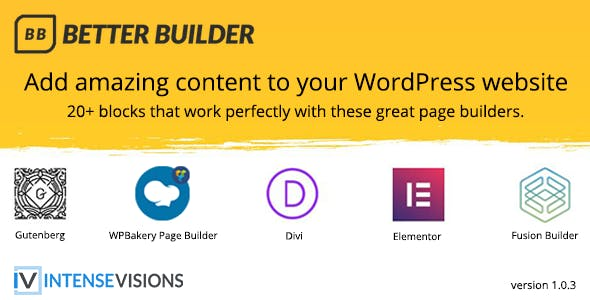 Better Builder v1.0.3 – Addon for Page Builders