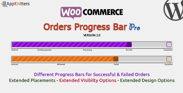 WooCommerce Orders Progress Bar v2.0.0
