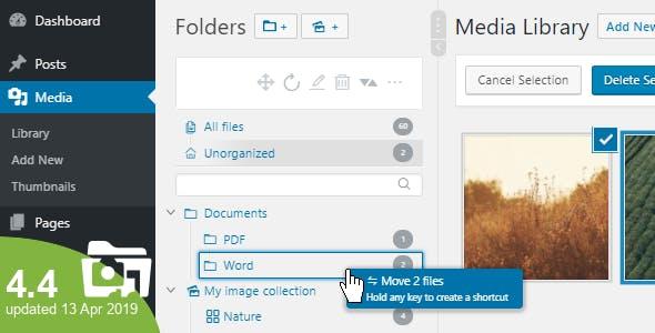 WP Real Media Library v4.4.0 – Media Categories / Folders