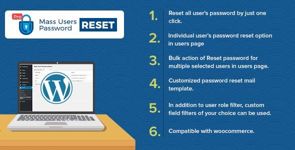 Mass Users Password Reset Pro v1 2 » Premium Scripts