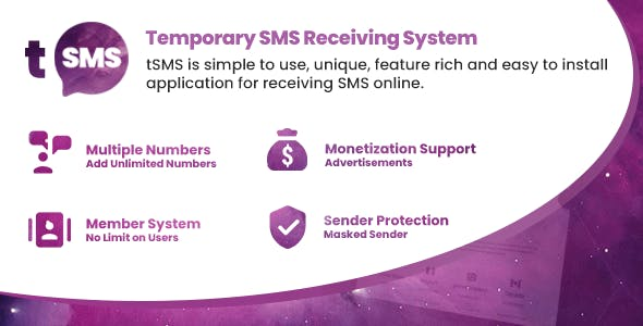 tSMS v1.9 - Temporary SMS Receiving System