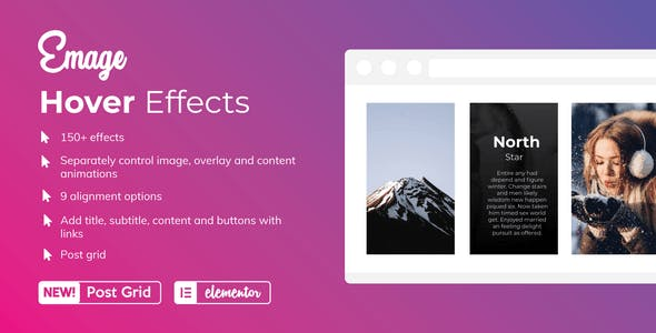 Emage v3.2.0 – Image Hover Effects for Elementor