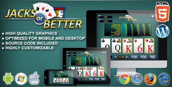 Video Poker Jacks or Better – HTML5 Casino Game