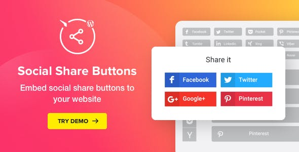 Social Media Share Buttons for WordPress v1.4.0