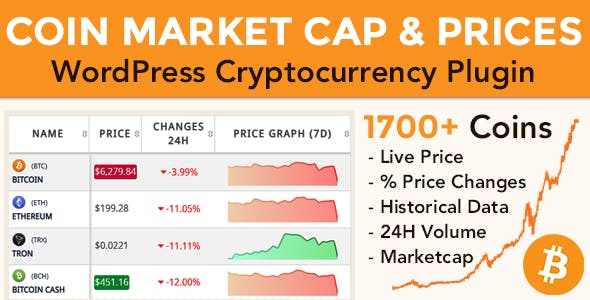Coin Market Cap & Prices v3.3.1 – WordPress Cryptocurrency Plugin