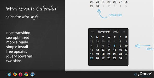 Events Calendar v1.6.3 – WordPress Plugin DZS