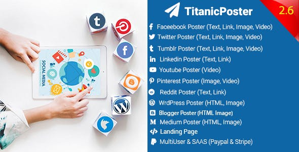 TitanicPoster v2.6 - Social Media Posting Solution