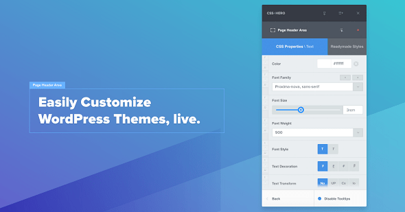 CSSHero v4.0.1 – Live Editor for WordPress