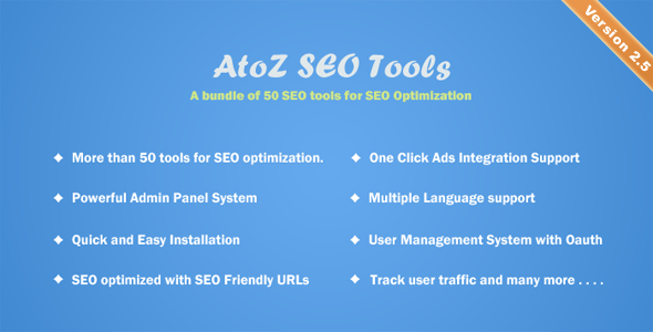 AtoZ SEO Tools v2.5 – Search Engine Optimization Tools