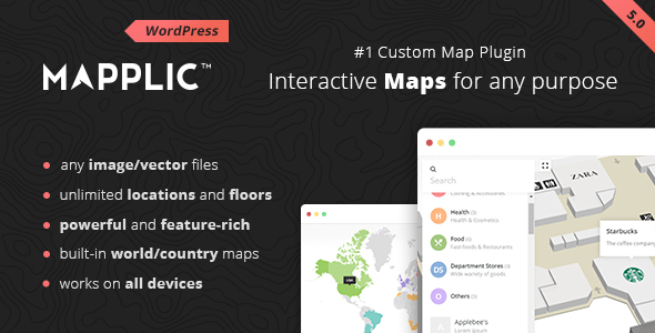 Mapplic v5.0.2 – Custom Interactive Map WordPress Plugin