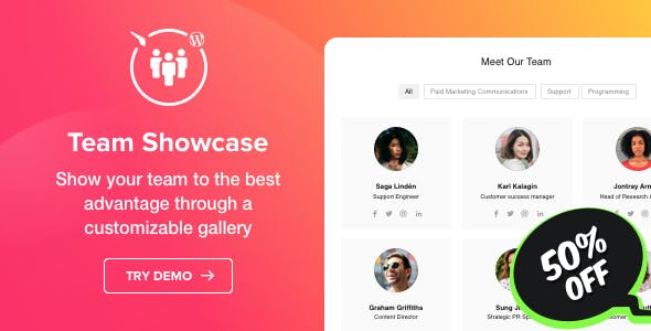 Team Showcase v1.2.0 - WordPress Team Showcase plugin