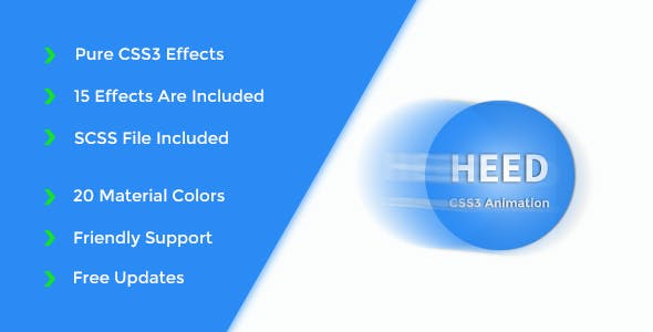 Heed – Pure CSS3 Animation Effects