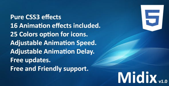 Midix - CSS3 Animation Effects Without Jquery
