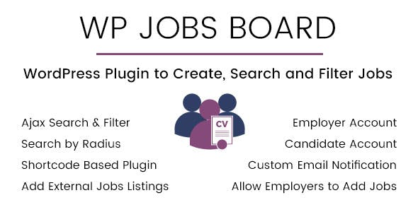WP Jobs Board v1.4 - Ajax Search and Filter WordPress Plugin