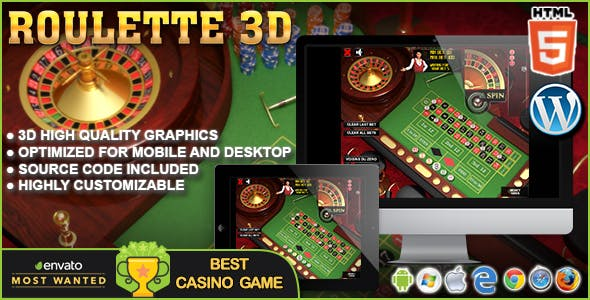 3D Roulette – HTML5 Casino Game