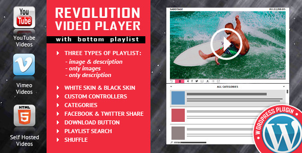 Revolution Video Player With Bottom Playlist v1.7.4