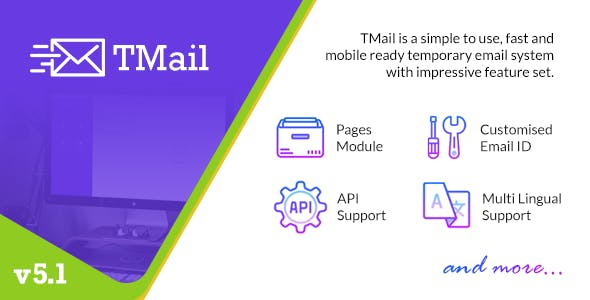 TMail v5.1.1 - Multi Domain Temporary Email System