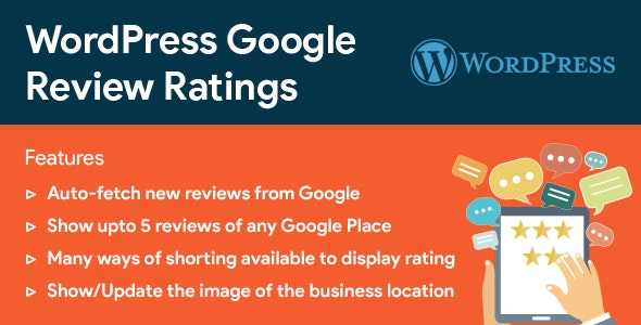 WordPress Google Reviews & Ratings v2.5