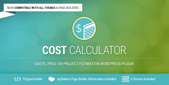 Cost Calculator v2.1.8 – WordPress Plugin