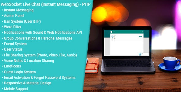 WebSocket Live Chat (Instant Messaging) v2.0.1 – PHP