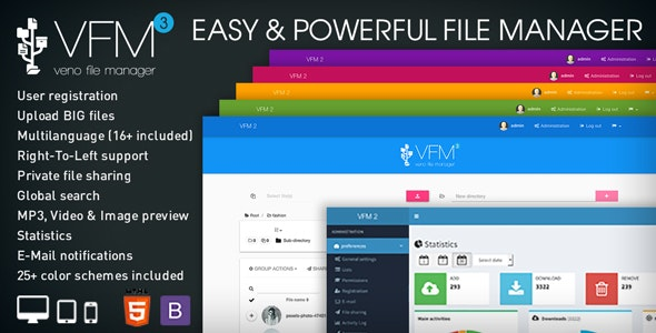 Veno File Manager v3.5.2 – host and share files