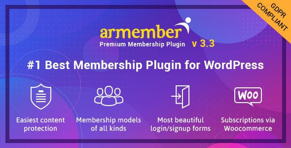 ARMember v3.3.1 – WordPress Membership Plugin