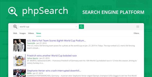 phpSearch v4.3.0 – Search Engine Platform