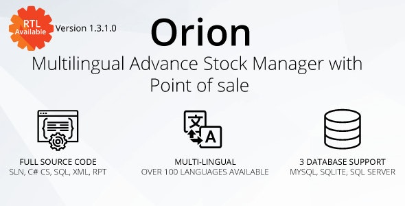 Orion v1.3.1.0 – Multilingual advance stock manager with Point of sale system