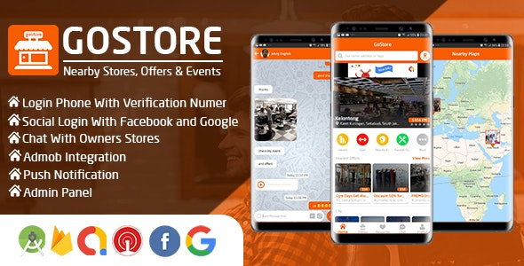 GoStore v1.0 – Nearby Stores, Offers & Events With Admin Panel