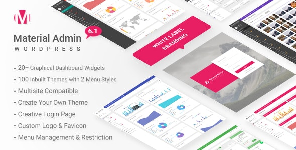 Material v7.1 - White Label WordPress Admin Theme
