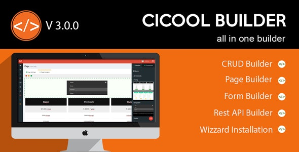Cicool v3.0.0 – Page, Form, Rest API and CRUD Generator