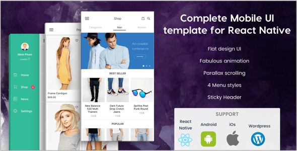 BeoStore v3.9.6 - Complete Mobile UI template for React Native