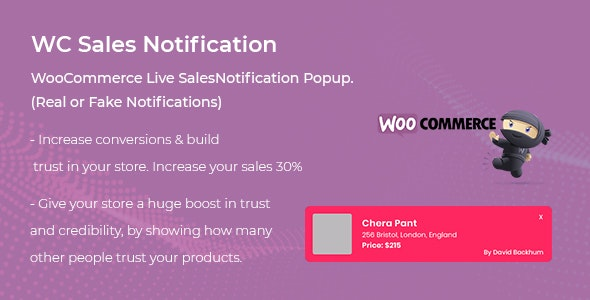 WooCommerce Live Sales Notification Pro v1.0.0