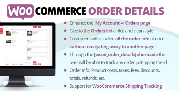 WooCommerce Order Details v2.8