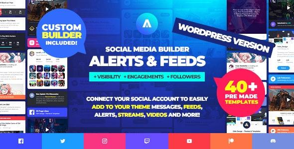 Asgard v1.1.4 – Social Media Alerts & Feeds WordPress Builder – Facebook, Instagram, Twitch and more!
