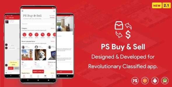 PS BuySell v2.1 - ( Olx, Mercari, Offerup, Carousell, Buy Sell ) Clone Classified App