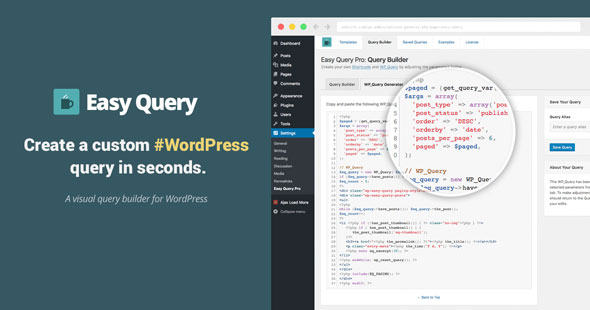 Easy Query Pro v2.3.1.1 - Visual Query Builder Plugin For WordPress