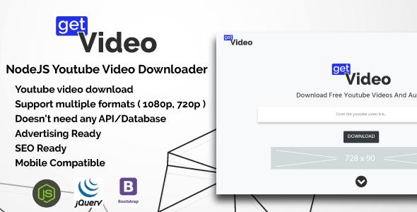 GetVideo v1.0 - NodeJS Youtube Video Downloader