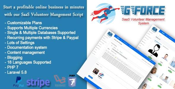 GForce v1.0 - SaaS Volunter Management System