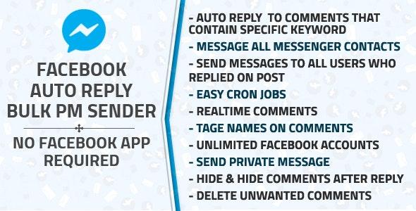 Facebook Auto Reply & Bulk Private Message Sender v1.1